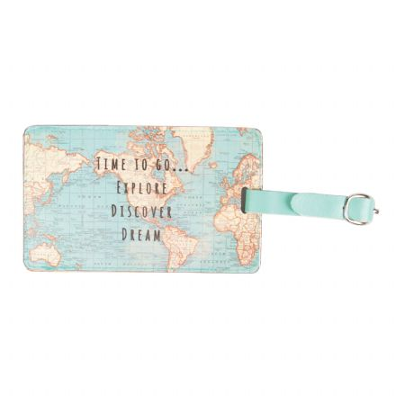 Vintage Map Travel Luggage Tag